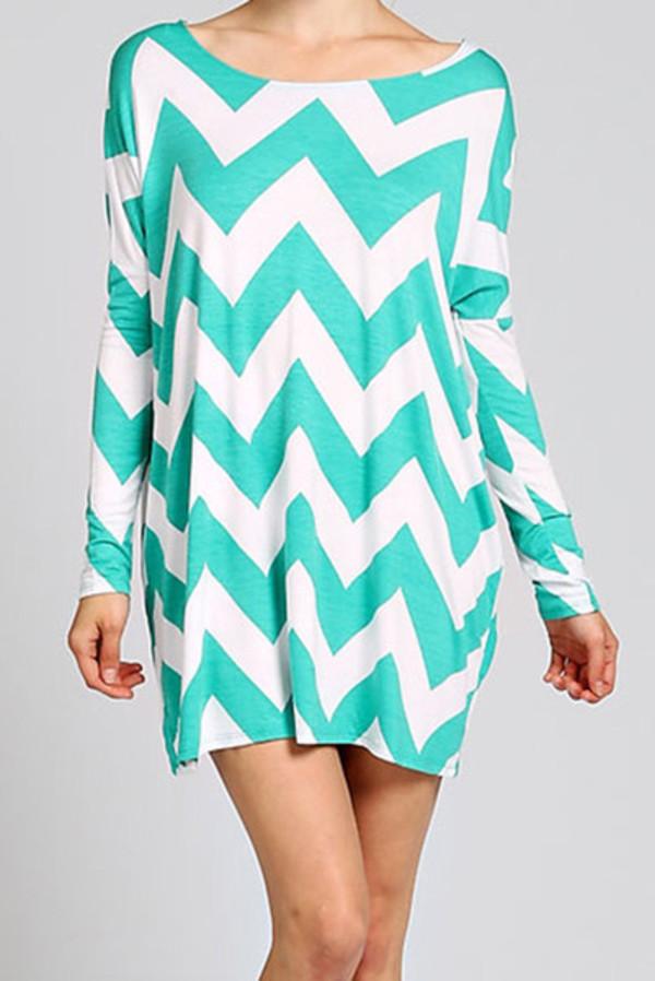 turquoise zigzag