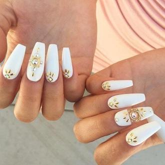 nail polish nail art decoration rhinestones strass white gold