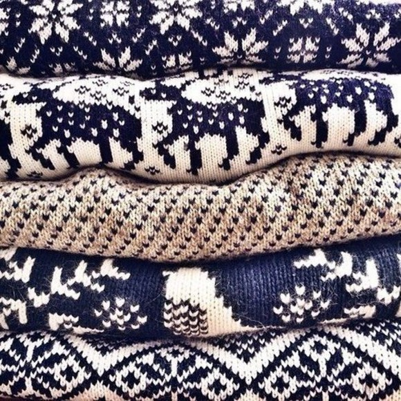 navy sweater winter sweater winter/autumn fashion christmas sweater nordic sweater norway print patterned sweater reindeer and snowflakes sweater white sweater