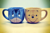 disney,winnie the pooh,tigger,piglet,mug,coffee,tea,hot chocolate,yummy,cute,eeyore