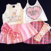 socks,emoji print,pastel pink,pink,tartan,plaid,plaid skirt,skirt,top,crop tops,tartan skirt,weird,girl,kawaii,sassy,halter top,halter crop top,white,donut,sailor moon,anime,manga,pleated skirt,pink skirt,striped skirt,rainbow,heart,aesthetic,tumblr,multicolor