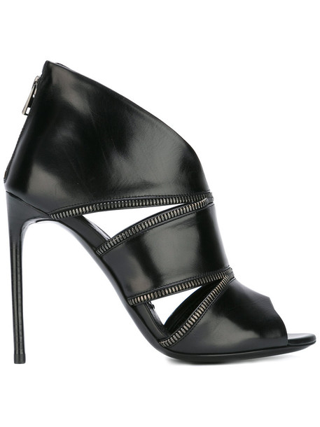 Tom Ford cut-out women boots ankle boots leather black shoes