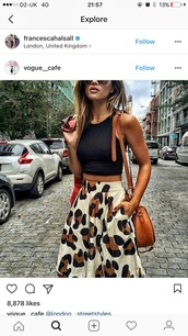 skirt,leopard print