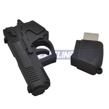 Black Pistol Shaped 8 GB USB Flash Drive