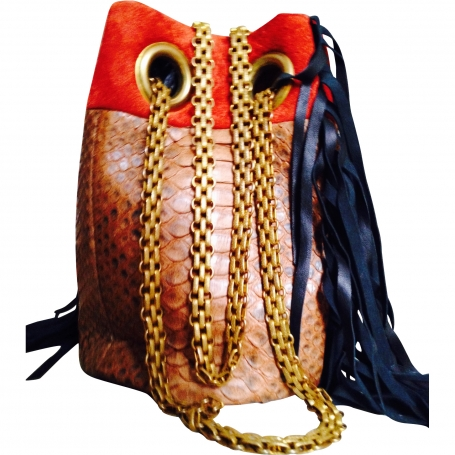 Python and suede bag DELPHINE DELAFON Multicolour in Exotic leathers All seasons - 812751