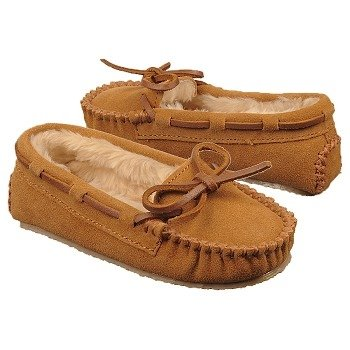 Kids Minnetonka Moccasin ' Cassie Slipper Tod/Pre Cinnamon Shoes.com
