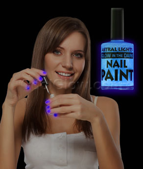 Glow in the Dark Nail Polish - Blue - Coolglow.com