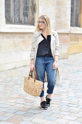 paris grenoble blogger coat blouse