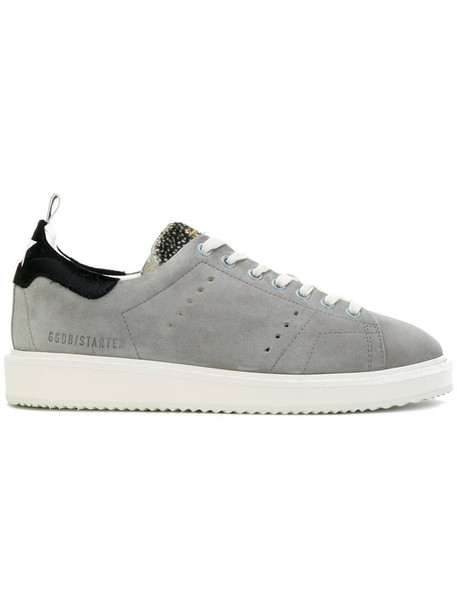 GOLDEN GOOSE DELUXE BRAND women sneakers leather suede grey shoes