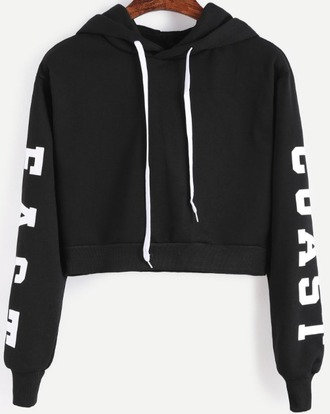 sweater black cropped hoodie hoodie crop cropped white crop tops cropped sweater printed sweater print black and white