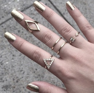 gold ring arrow nail polish gold
