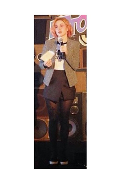 skirt black slit triangle