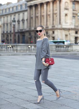 brooklyn blonde blogger top shoes bag