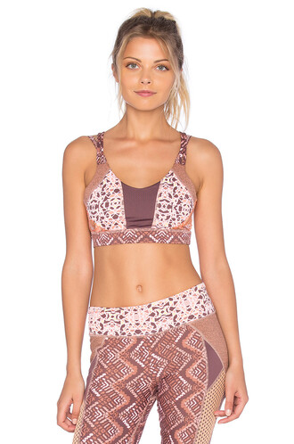 bra sports bra brown