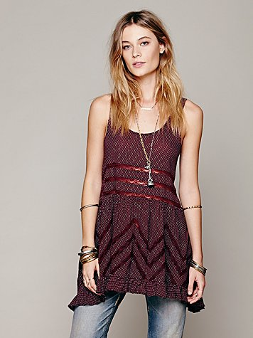 Free people voile and lace dress