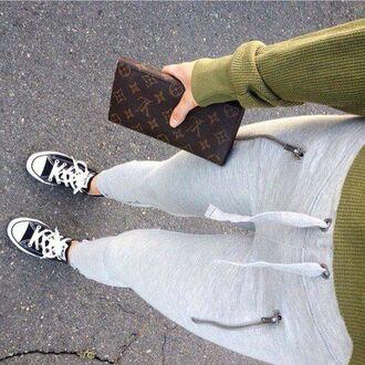 pants sweatpants sweatpants tumblr gray instagram fvkin
