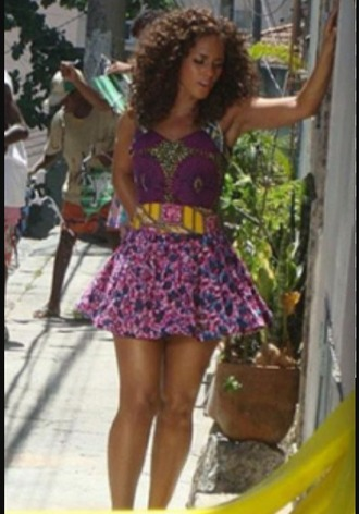 alicia keys skater dress mini skirt purple dress ethnic african print african dress