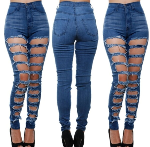 high waisted ripped jeans - Google Search
