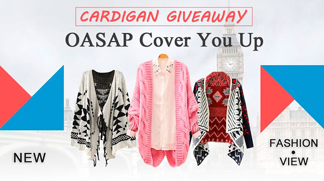 Oasap Cardigan Giveaway
