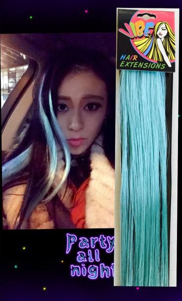 hair accessory mint mint pastel mint mint blue extensions hair accessory