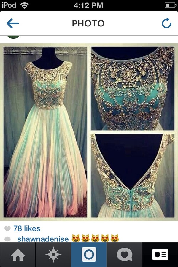 dress prom dress long prom dress cotton candy amazing nnedtofin