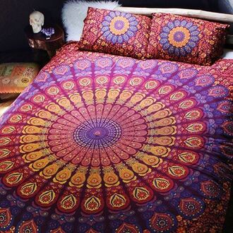 home accessory mandala mandala print mandala duvet mandala cover mandala bedcover indian mandala boho hippie duvet queen bed queen bed duvet by the moon peppermayo