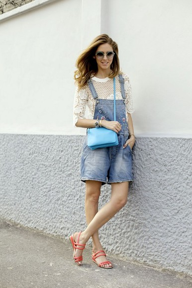 t-shirt sunglasses blonde salad jewels shoes bag