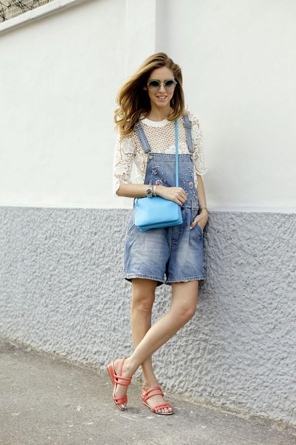 the blonde salad shoes t-shirt jewels bag sunglasses romper