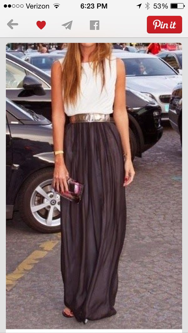 skirt gray maxi skirt with sequined belt
