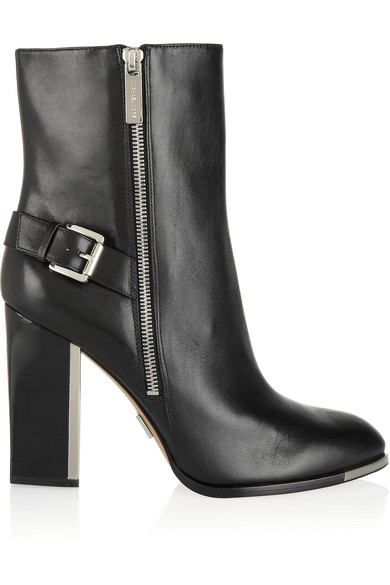 Michael Kors | Janell buckled leather boots | NET-A-PORTER.COM
