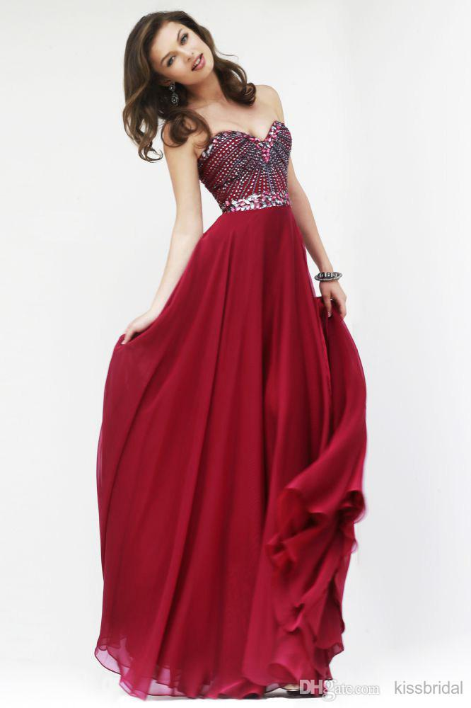 Cheap 2015 Evening Gowns - Discount Beading Sweetheart Sleeveless Beaded Belt Floor Length Chiffon Online with $115.72/Piece | DHgate