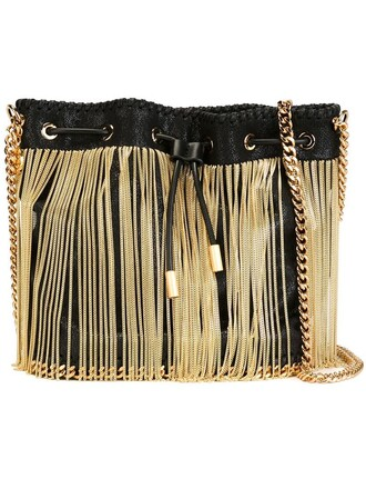 bag shoulder bag gold black