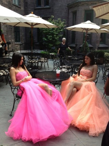 dress pink dress princess dress kendall jenner kendall and kylie kylie jenner