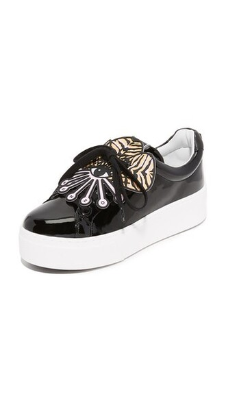 noir sneakers platform sneakers shoes