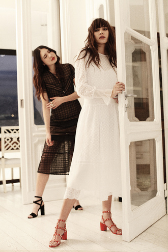 dress white dress natalie off duty spring outfits luxury spring dress summer dress lace dress brunette