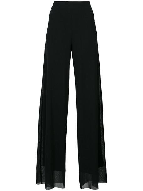 Fuzzi - wide leg trousers - women - Polyamide - M, Black, Polyamide