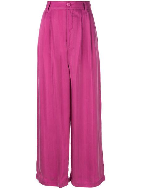Mm6 Maison Margiela pants palazzo pants women purple pink
