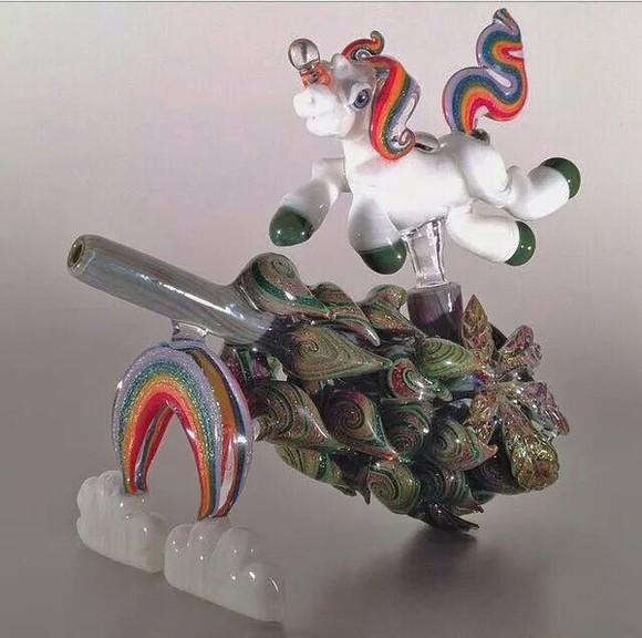 unicorn jewels pipe pipe/smoking marijuana smoke 420 high baked glass smoking pipe