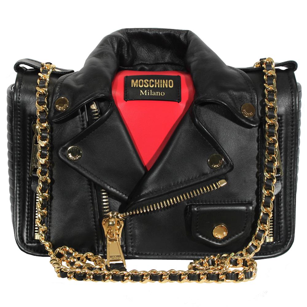 MOSCHINO Biker Jacket Regular Bag in BLACK
