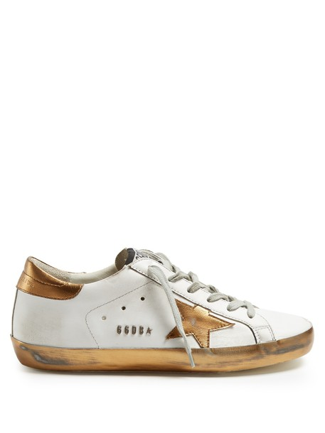 GOLDEN GOOSE DELUXE BRAND top leather white