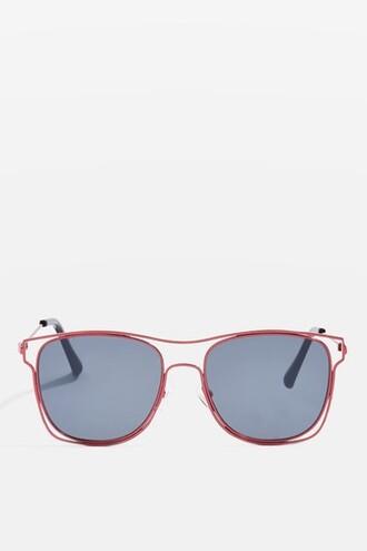 metal sunglasses red