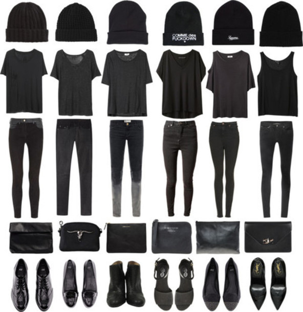 shirt t-shirt black black t-shirt cool bare bare shoulder hole plain black jeans