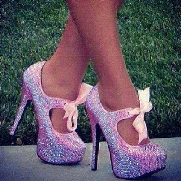 hat cute pink violet high heels ariana grande
