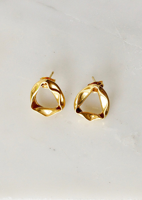 Emma Aitchison Recycled Gold Waterpool Earrings