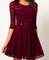 #175 lace floral slim dress
