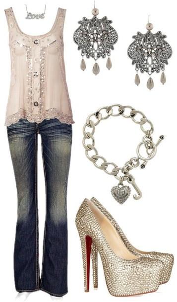 shirt sparkle blouse