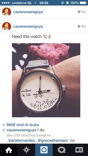 watch,quote on it,hair accessory