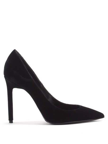 pumps velvet black shoes