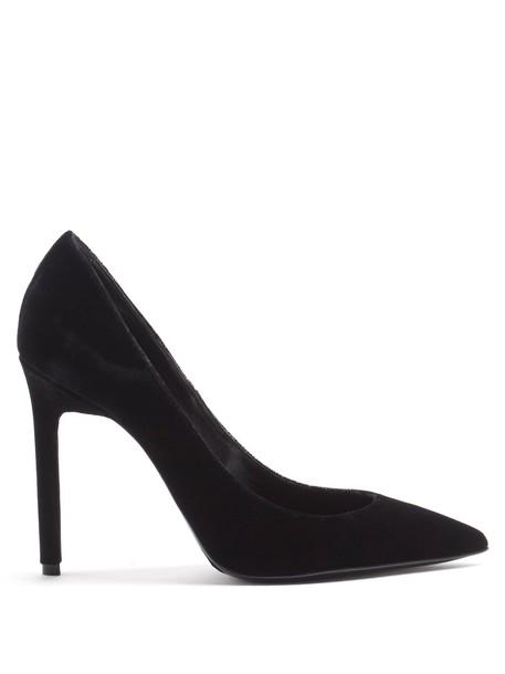 Saint Laurent pumps velvet black shoes