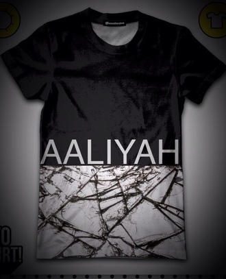 shirt aaliyah shirt black t-shirt